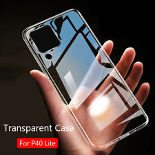 For Huawei P40 Lite Shockproof Soft Slim Silicone Clear TPU Back Case Cover