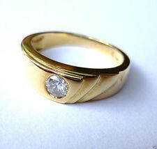 P2 Solitäre Echte Diamanten-Ringe aus Gelbgold mit Brilliantschliff