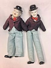 "Vintage Laurel and Hardy 24"" & 20"" Porcelain Dolls Very Good Condition VTG"