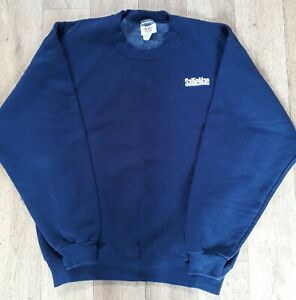 Jerzees World Class Blue Sweatshirt Size Medium SallieMae Embroidered Logo