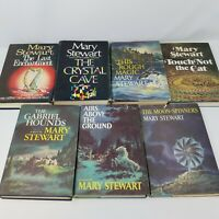 Mary Stewart Lot of 7 Book Collection, BCE, HC Dust Jackets, Arthurian, Fantasy