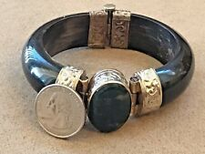 Wonderful Elegant  EBONY BRACELET - Silver Fittings - Bangle Bracelet