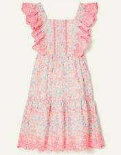 NEW Monsoon - Ditsy Neon Embroidered Summer Dress - Age 6 Years