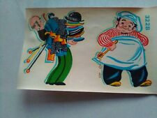 Vintage Duro Decals Kitschy Chef, Butler 322A and B Cook