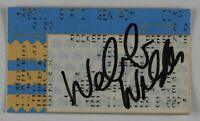 Webb Wilder Autograph Signed Concert Ticket JSA COA