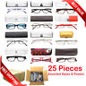 READING GLASSES WITH CASE BULK LOT 25, 36, 50 PCS PER BOX ASSORTED STYLES POWERS