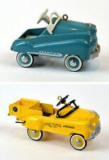 2-Hallmark Kiddie Car Classics Ornaments Murray 1994 Champion & 1997 Dump Truck