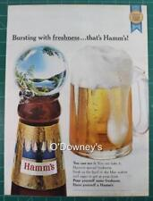 Vintage ad 1965 Hamm's Beer Man Cave Art!