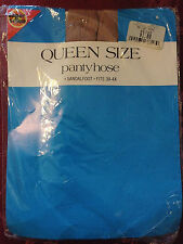 exciting! vintage super value queen size nude pantyhose 3x-4x