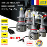 2 Paire 8 Côté 110W 30000LM H7&H1 LED Ampoule Voiture Phare Feux Lampe Kit 6000K