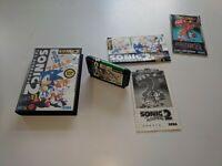 Sega Mega Drive Boxed Game * SONIC THE HEDGEHOG 2 * Megadrive * GGG JAPANESE JAP