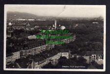 121329 AK Dresden Fotokarte Blick gen Osten um 1930 Kugelhaus Blick vom Rathaust
