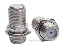 Sat Antennenkupplung F Antenne Kabelverbindung, Kupplung, 2x Buchse Metall #454