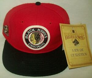 CHICAGO BLACK HAWKS HAT NHL HERITAGE COLLECTION RARE SIZE 6.3/4 ROMAN NEW