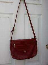 Stone & Company  Ladies Red Leather Shoulder Bag - Preowned
