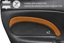 BLACK & TAN 2X DOOR CARD TRIM LEATHER COVER FOR MAZDA MX5 MK2 2.5 MIATA 01-05
