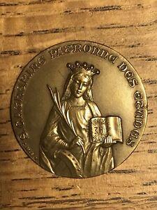 Médaille Ste CATHERINE signée C. MAREY Cours St ANDRÉ BORDEAUX à O.BRISTAUT 1923