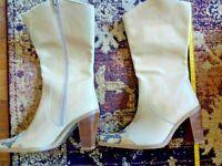 Sandra Vera by Nicole - Beige Knee High Women's Fashion Boots | UK Size 4.5