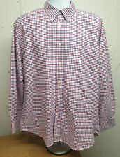 The Oxford Shirt Co. Long Sleeve Red & Blue Check Shirt Size 17.