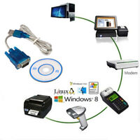 RS232 Serial Adapter Cable USB 2.0 to VGA DB9 9Pin Male PC Mobile Phone Win XP