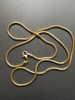 L 50cm Chaîne Serpent Vermeil à l'or 24K argent 925 plaqué Or 24K diamètre 1,9mm