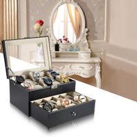 20Slot Double-layer Watch Box Display Case Organizer Storage Box Wristwatch E9Z5