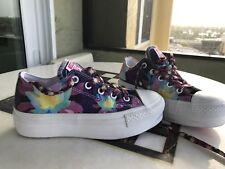 Converse Chuck Taylor Platform Sneakers Colorful Lotus Flower Print Size 6