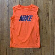 Nike Men's Dri-Fit Tank Sleeveless Shirt Size Small Orange Spell out