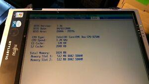 """Fujitsu Stylistic C2D ST5112 12"""" 1.2GHz U2500 1GB RAM Tablet Power up to BIOS"""