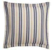 "Chaps Home Beauport Euro Sham Stripe Size Euro Blue Tan 26"" x 26"""