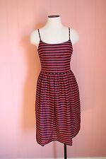 JCrew Factory Stripe Linen-Cotton Sundress 6 Navy Red Summer Dress $89.50 msrp