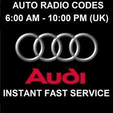 Audi RNSE SAFE Radio Code