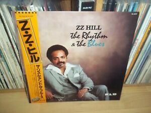 ZZ HILL The Rhythm & the Blues JAPANESE 1983 MALACO orig LP with OBI & INSERT