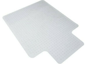 "OFM Essentials Collection 36"" x 48"" Transparent Chair Mat with Lip for Carpet"