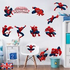 12pcs Marvel Avengers War Spiderman Wall Sticker Vinyl Decal Bedroom Nursery UK