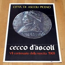 CECCO D'ASCOLI poster manifesto affiche Ascoli Piceno Centenario 1969