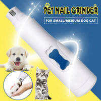 Electric Dog Nail Grinder Clippers Nail File Cat Claw Cordless Pet Trimmer Tool