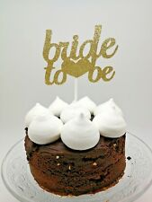Gold Glitter Bride To Be Wedding Party Cake Topper Food Pick Hen Night Party