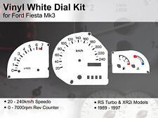 Ford Fiesta Mk3 (1989 - 1997) - 240kmh RS Turbo / XR2i - Vinyl White Dial Kit