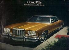 Pontiac GRAND VILLE 1974 Stati Uniti Mercato PIEGA BROCHURE DI VENDITA