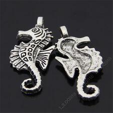 15x Retro Tibetan Silver Hippocampus Pendant Charms Beads DIY Accessories 435AF