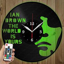 LED Vinyl Clock Ian Brown LED Wall Art Decor Clock Original Gift 3943