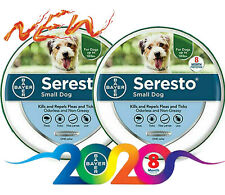 Bayer Seresto Flea and Tick Collar for Small Dog Under 18 lbs 8 Months - 2 Pack