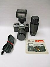Pentax K1000 2 lens outfit 28-80mm zoom & 80-200mm zoom lens great for student