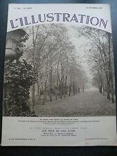 JOURNAL UNIVERSEL L'ILLUSTRATION N° 4786 24 NOVEMBRE 1934 PARC IGNORE DANS PARIS