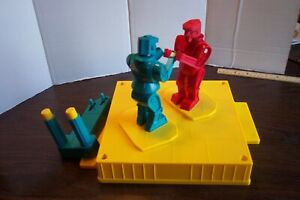 Set of 6 Pieces 2001 Rock'em Sock'Em Robot Parts 2 Robots, Blue Control, Base