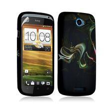 Housse coque étui gel pour HTC One S motif LM14+ Film protecteur