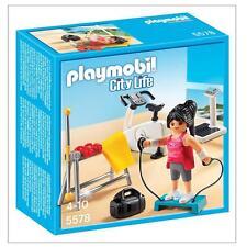 BNIB Playmobil 5578 FITNESS ROOM City Life Home Gym modern dollhouse furniture