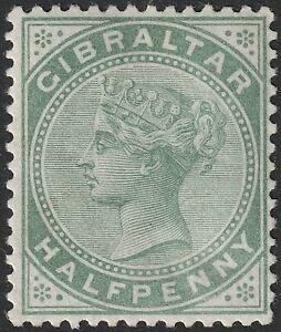Gibraltar 1887 QV ½d Dull Green Mint SG8 cat £20