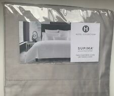 Hotel Collection Supima Twin Comforter Cover 680 Thread Count Light Gray $300